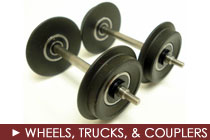 G Scale Wheels, Trucks, and Couplers